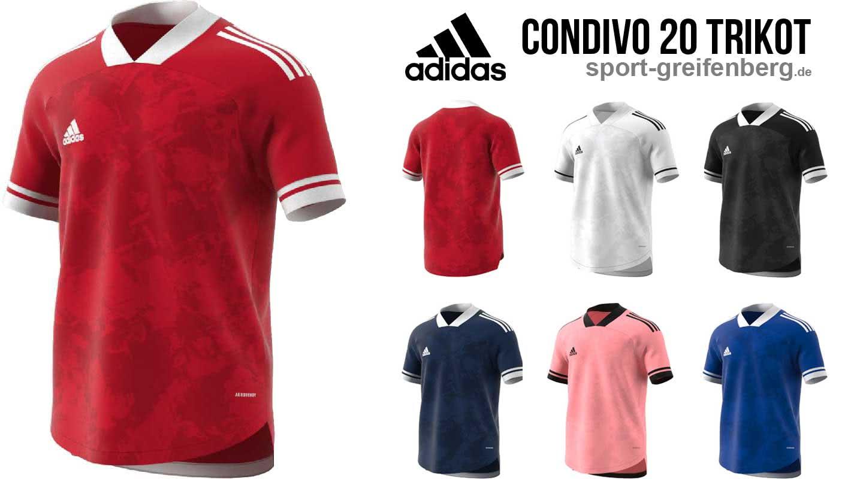 das adidas Condivo 20 Jersey für die Trikotsätze aus dem Profi Fußball