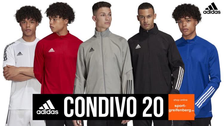 Die adidas Condivo 20 Sportbekleidung mit Anzug, Jersey, Trainingsjacke uvm.