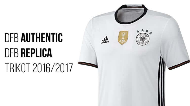 Das Adidas DFB Authentic Trikot und Adidas DFB Trikot Replica Home 2016/2017 + Euro 2016 im Vergleich