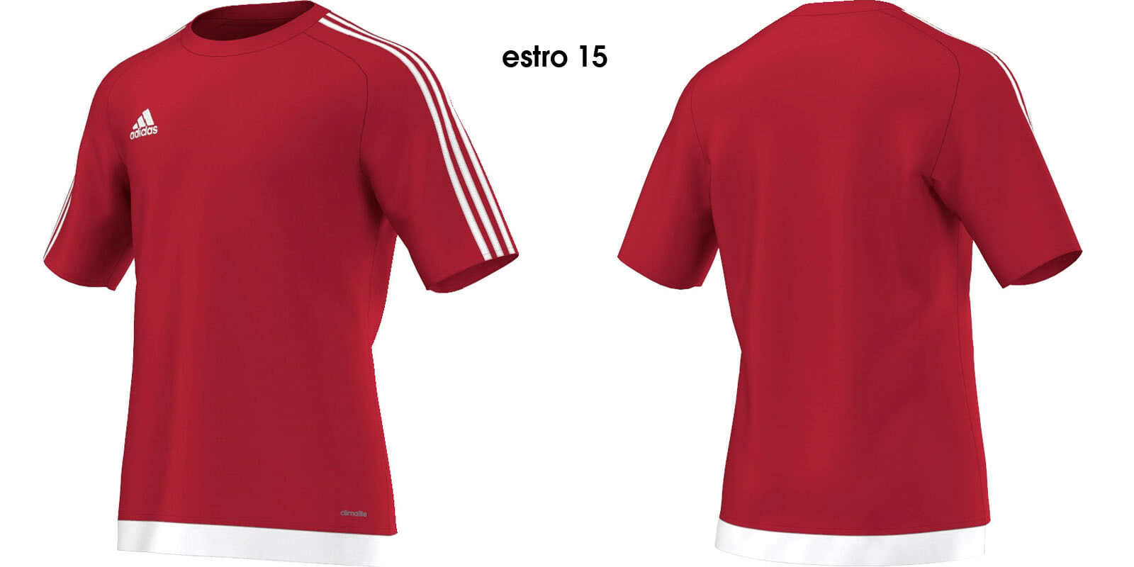 adidas Estro 15 kurzarm Fußballtrikot WeißBlau