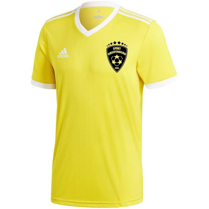 adidas trikot in gelb mit schwarzem Druck