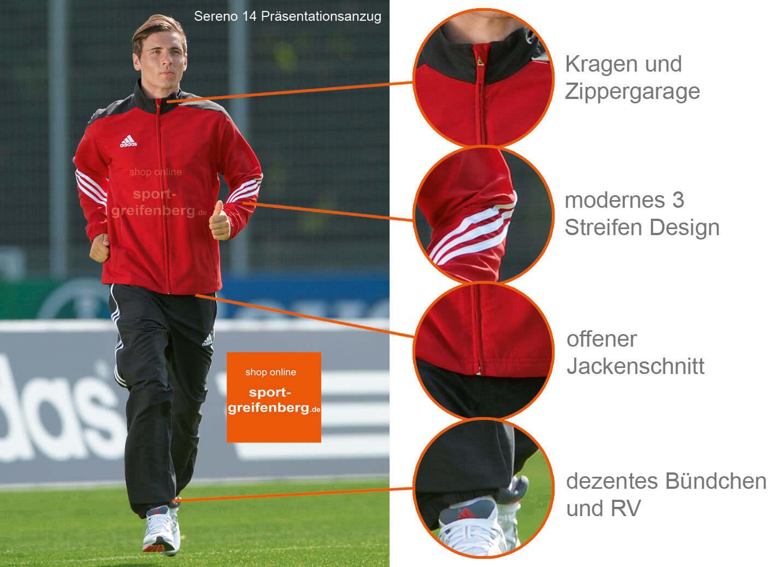 adidas herren trainingsanzug sereno 14 präsentations