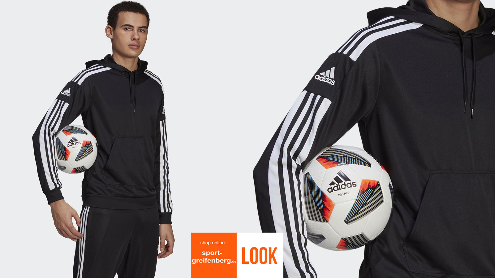 Das adidas Sport und Freizeit Outfit 3 Streifen