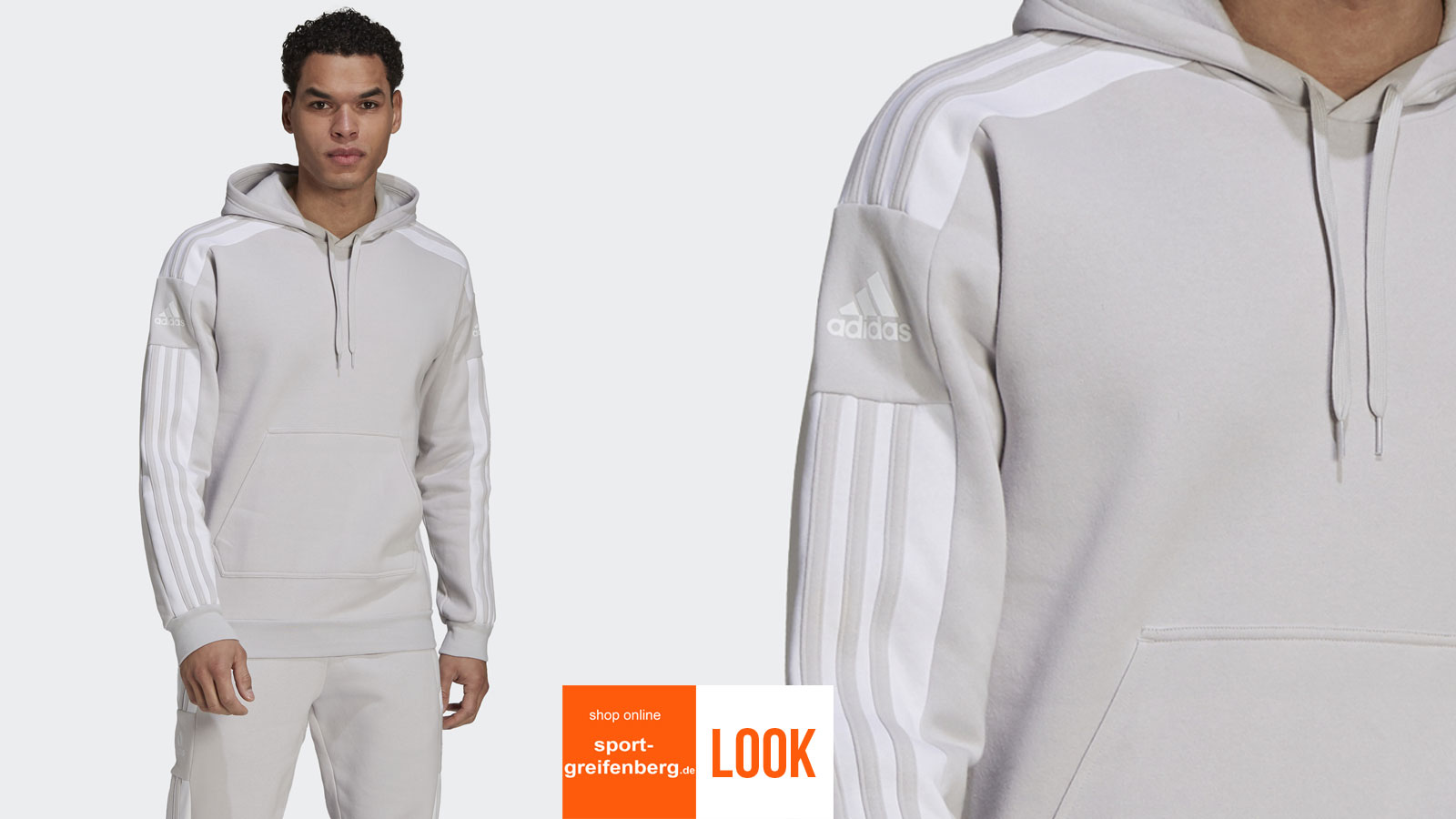 das adidas Sport Lifestyle Outfit Squadra in grau