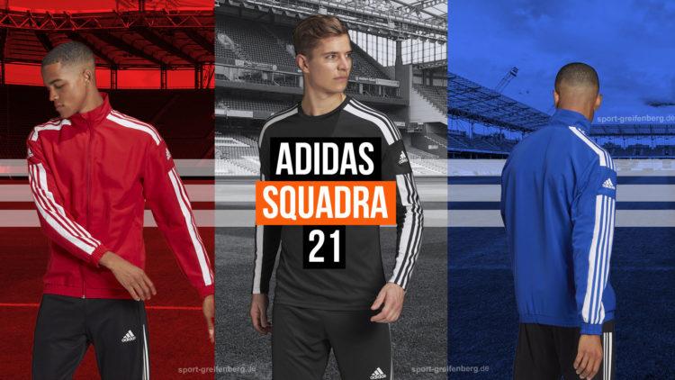 die adidas Squadra 21 Teamsport Kollektion mit Präsentationsanzug und Co