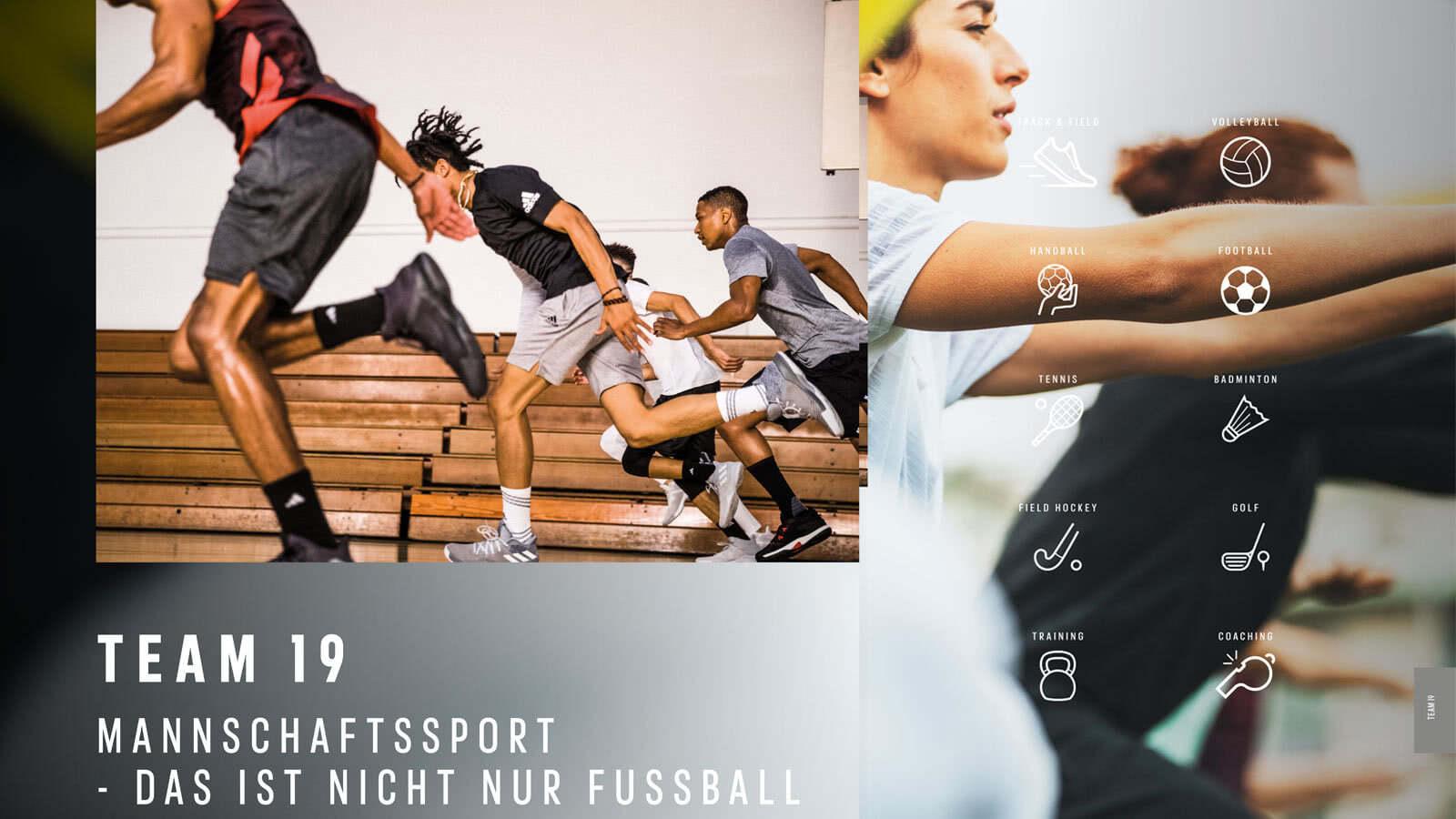Die adidas Team 19 Sportbekleidung