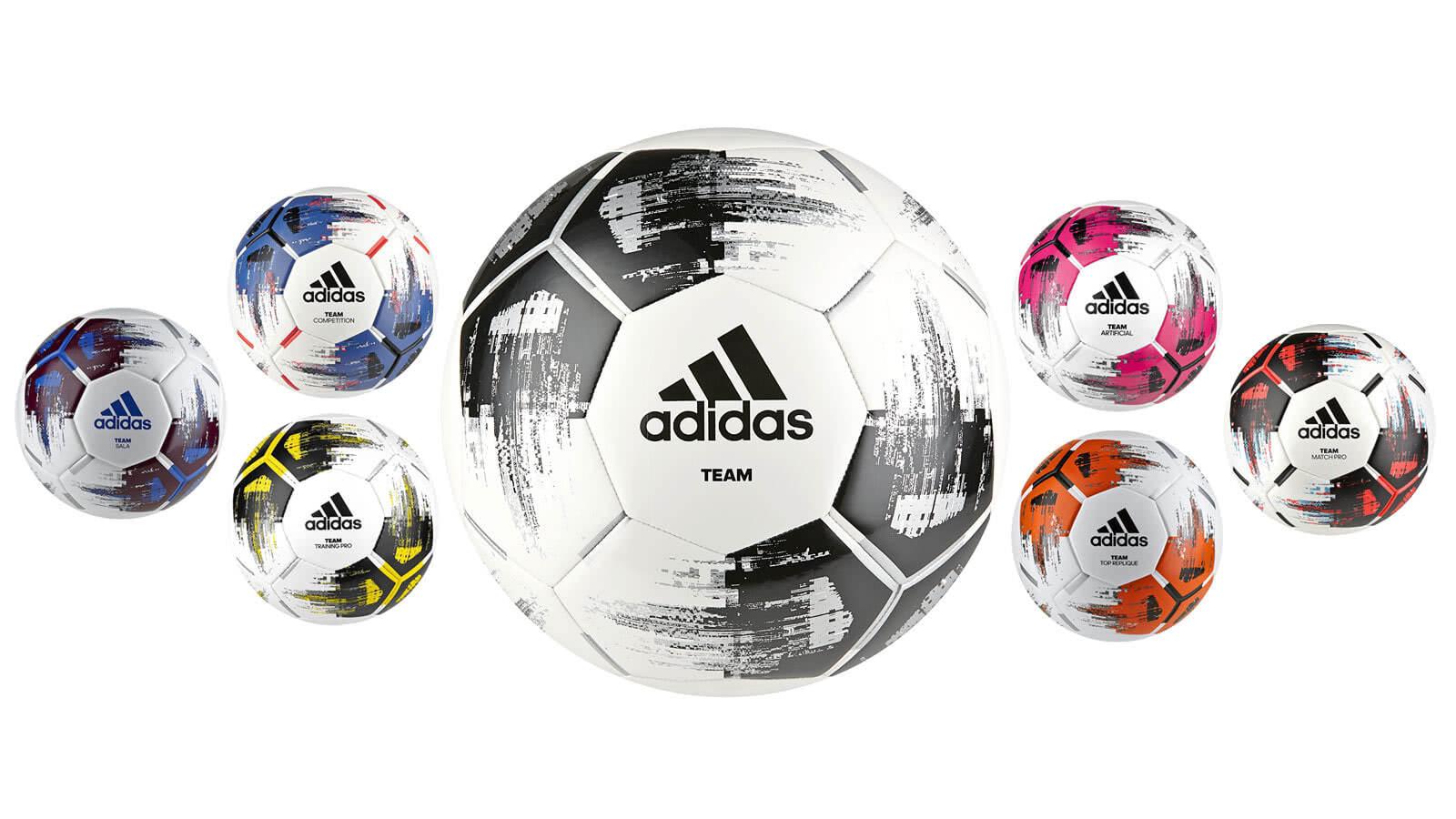 Adidas Team Fußbälle als Torfabrik Nachfolger mit Trainingsball und Spielball