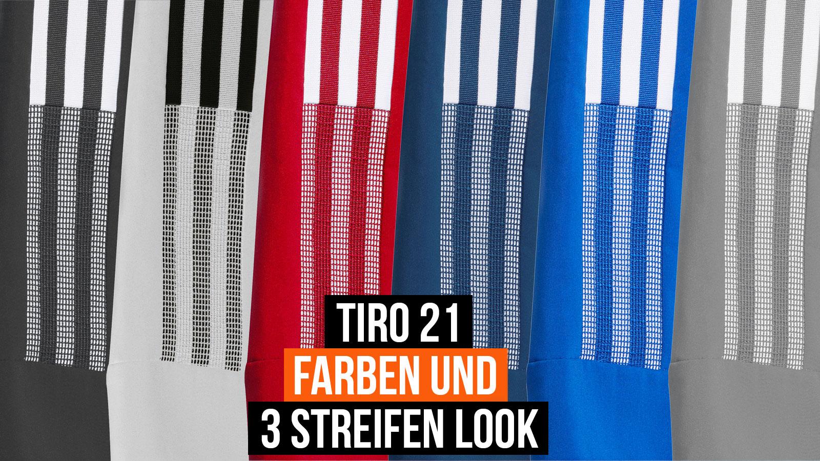 die adidas Tiro 21 Farben und das neue 3 Streifen Design