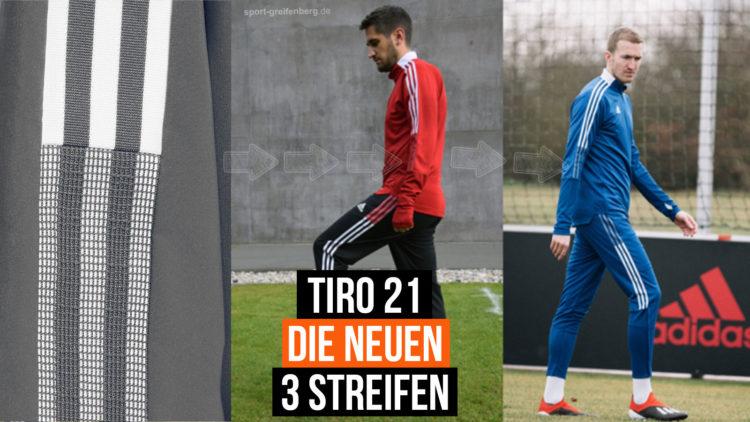 adidas Tiro 21 Teamsport Linie mit 3 neuen Streifen