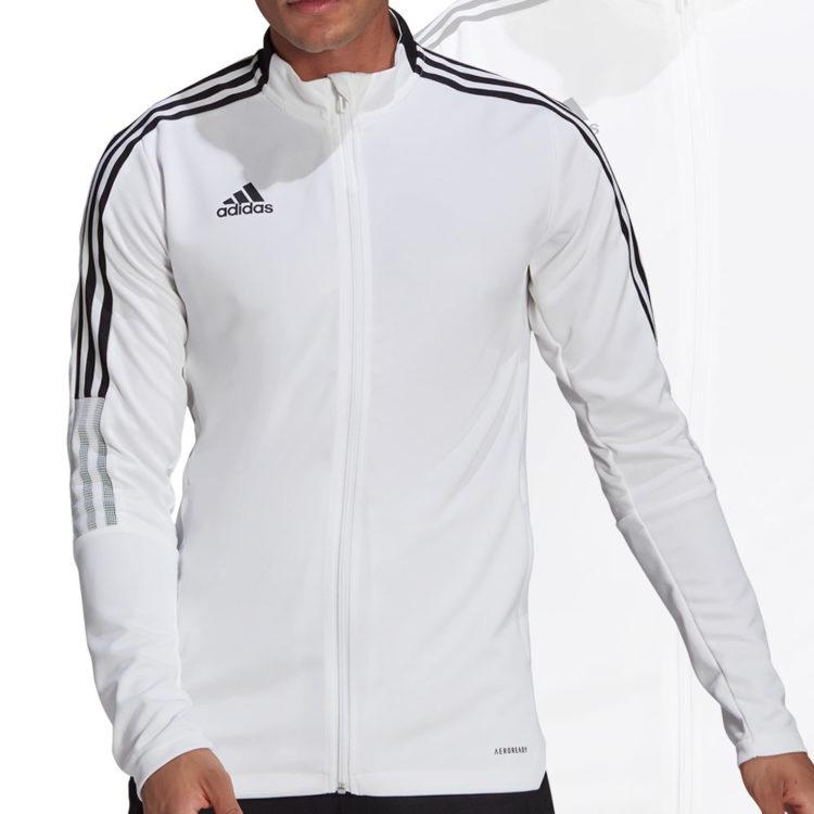 Die adidas Tiro 21 Track Top Training Jacket (Trainingsjacke) in weiß