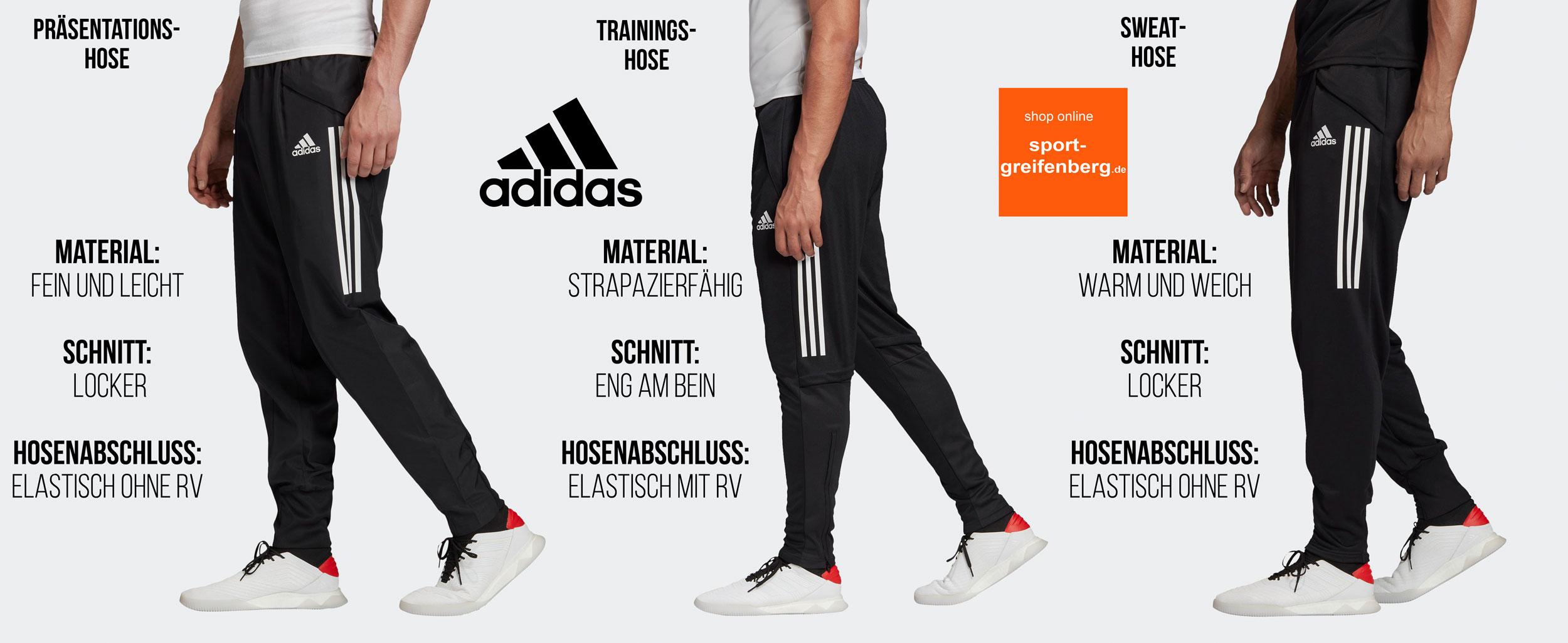 Die adidas Trainingshosen im Vergleich