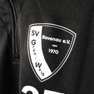 Das SV Grün Weiß Bovenau Vereinslogo bei den adidas Trainingstops