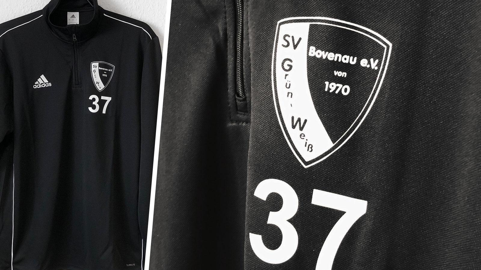 adidas trainingstop mit SV Grün Weiß Bovenau Intro
