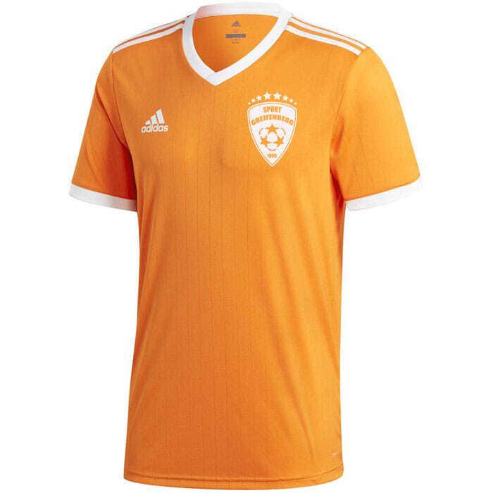adidas Trikot in orange mit weißem Druck