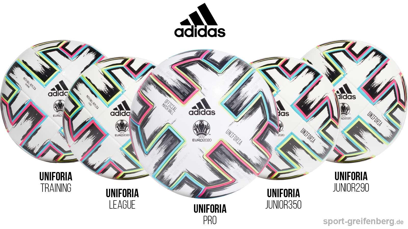 Die unterschiedlichen adidas Uniforia Bälle