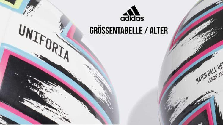 Die adidas Uniforia Größentabelle für Fußbälle