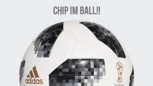 der adidas WM Ball mit Chip. Adidas Telstar 18 OMB incl NFC Chip