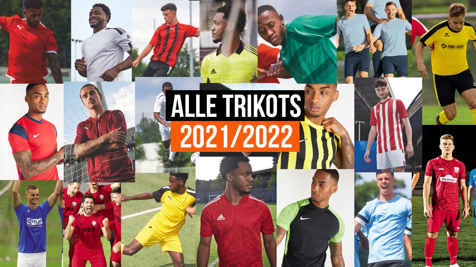 alle Trikots für 2021/2022 von adidas, nike, puma, jako und erima
