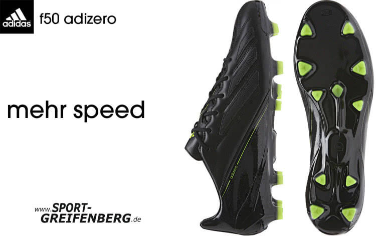 adidas adiZero F50 TRX FG Leder Fußballschuhe – SchwarzGrün