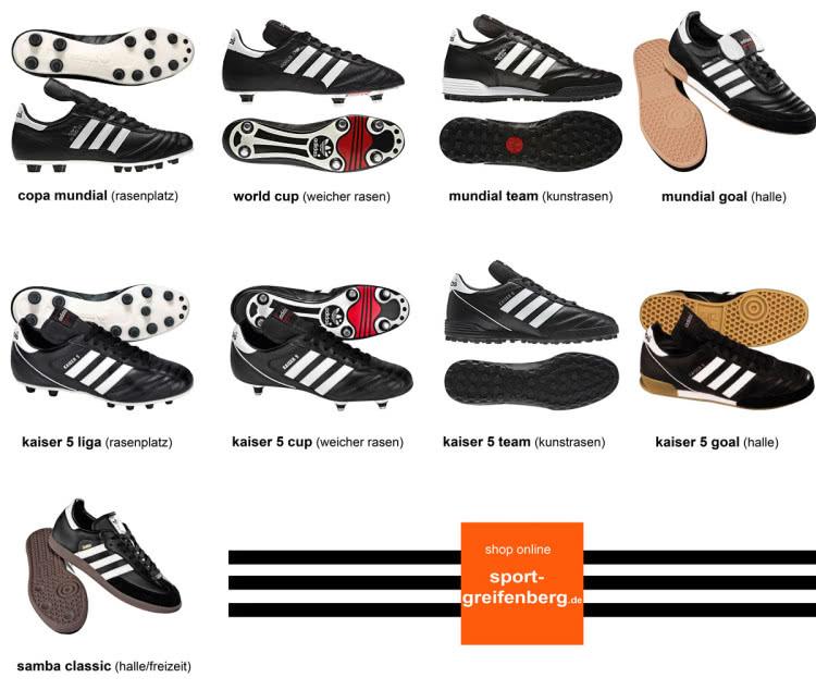 Die Klassiker der adidas Fußballschuhe | Kult | 3 Streifen