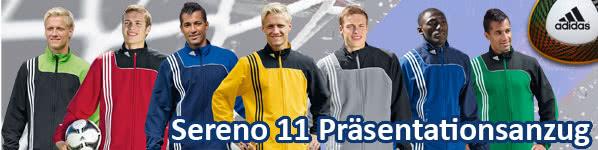 neuer Trainingsanzug Adidas Sereno 11 Präsentationsanzug