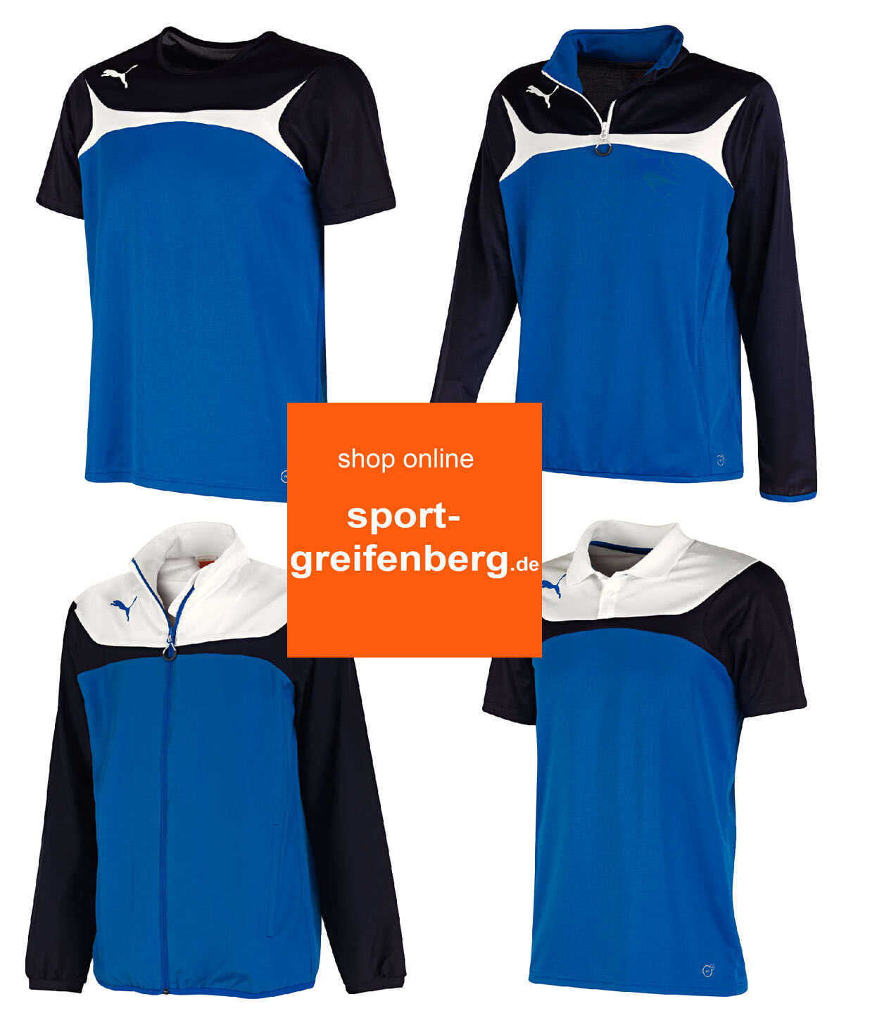 puma trainingsanzug blau