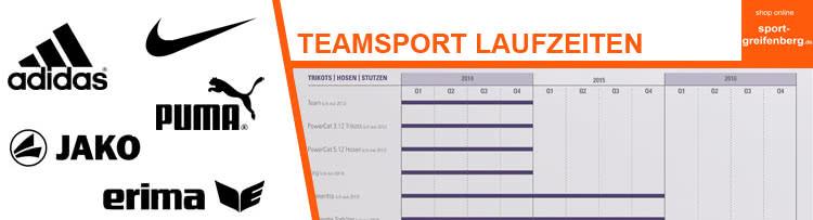 Welche Vorteile die Teamsport Laufzeiten der Hersteller haben. Auch bei Adidas oder Nike