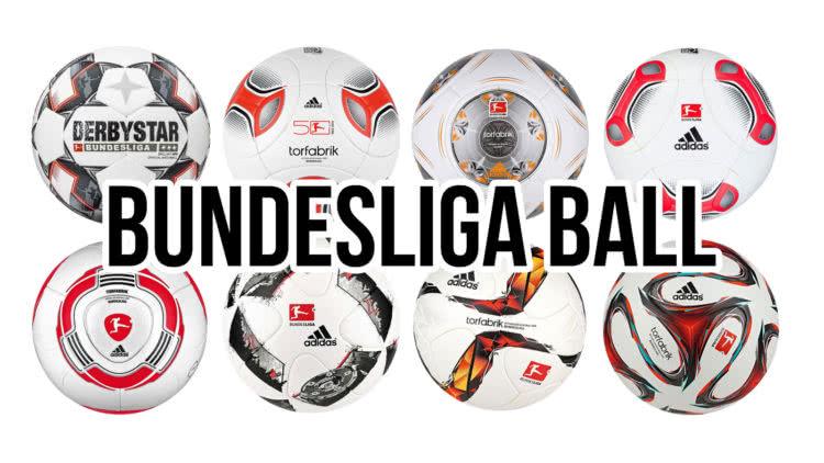 Alle Bundesliga Bälle die es gab im Vergleich