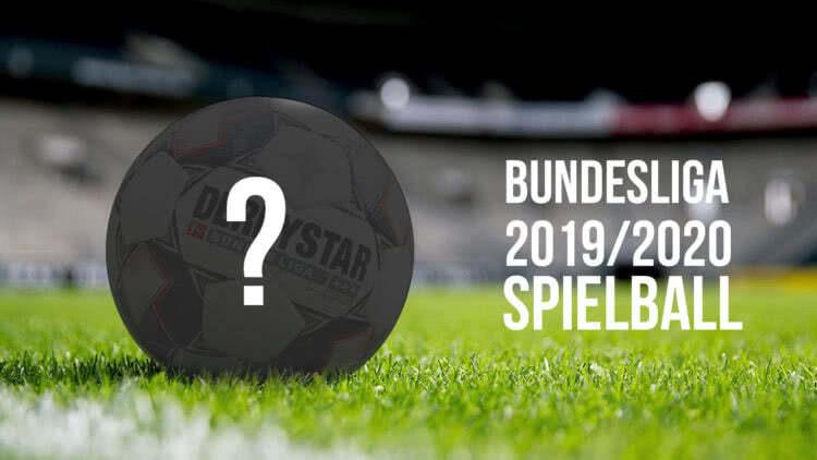 Der Derbystar Bundesliga Ball 2019/2020 als offizieller Spielball