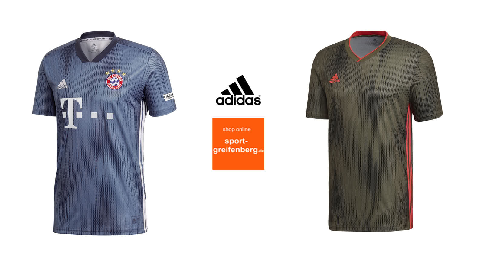 Das adidas tiro 19 jersey das trikot des fc bayern, juventus turin und manchester united