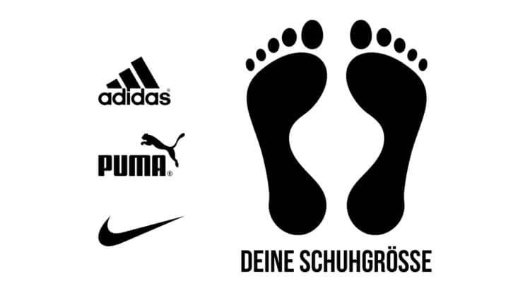Fußballschuhe nach der Fußlänge messen