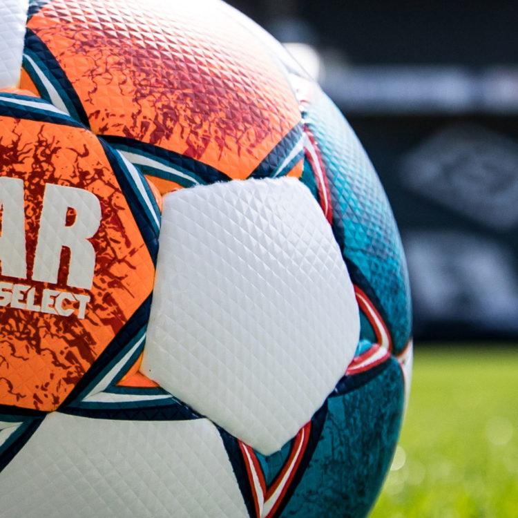 Die Diamant Panele des Derbystar Bundesliga Ball 2021/2022