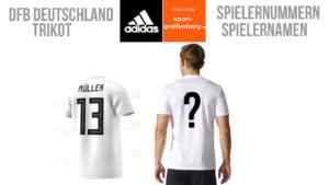 Die Nummern und Namen zum DFB Deutschland Trikot der WM 2018