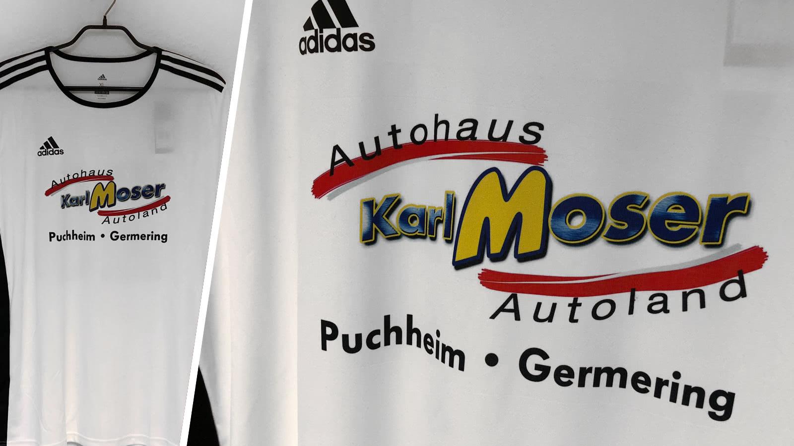 die adidas Trikots farbiger Werbung des FC Puchheim