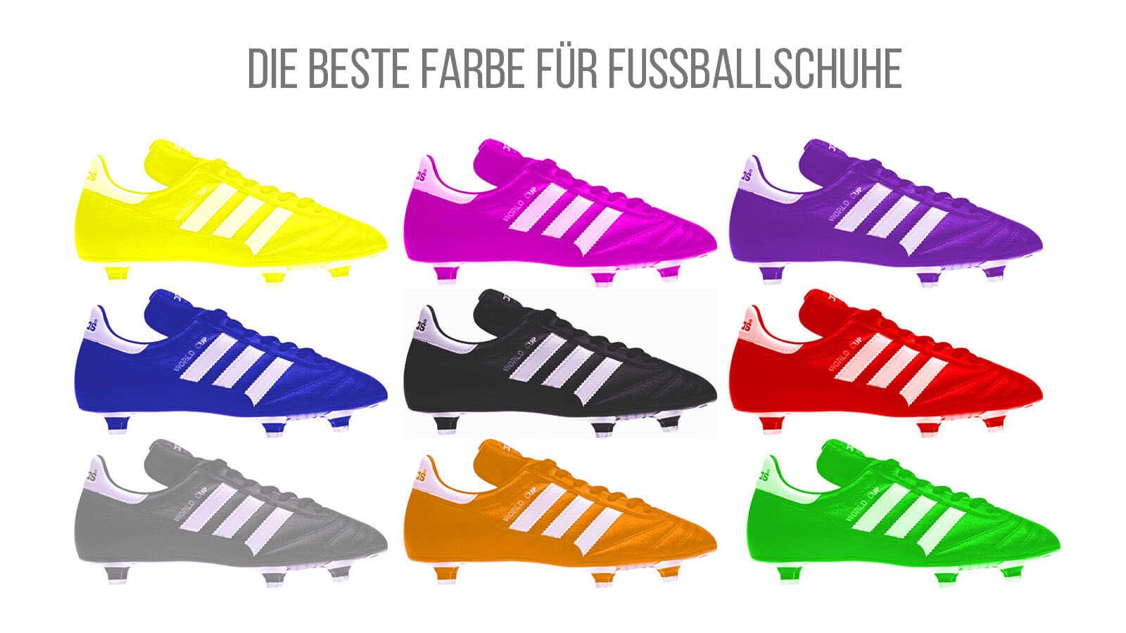 Hier findest du die beste Farbe für Fußballschuhe von adidas, nike und puma