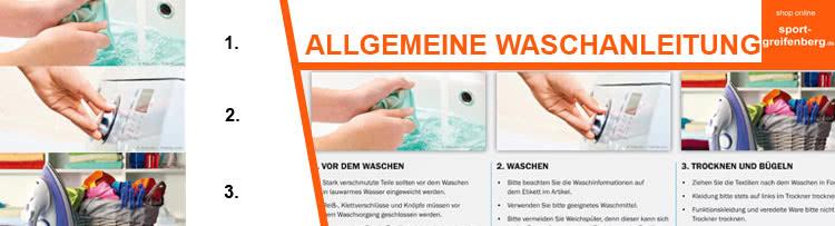 Die Die Waschanleitung für Sportartikel wie Trainingsanzüge oder Trikots