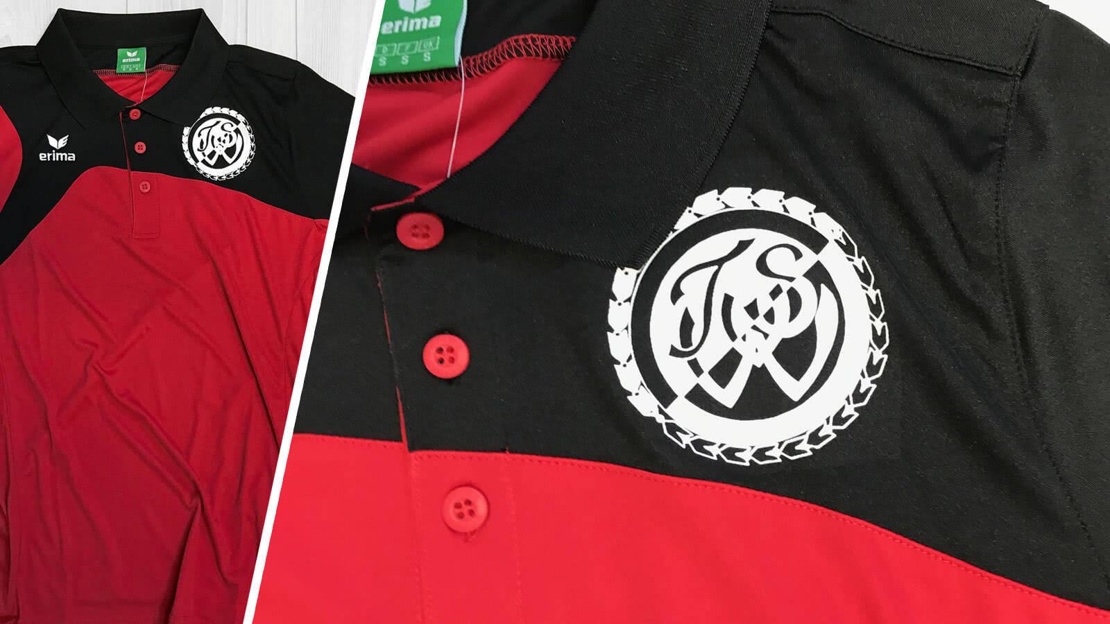 Die Erima Poloshirt Bedruckung des TSV Warzen
