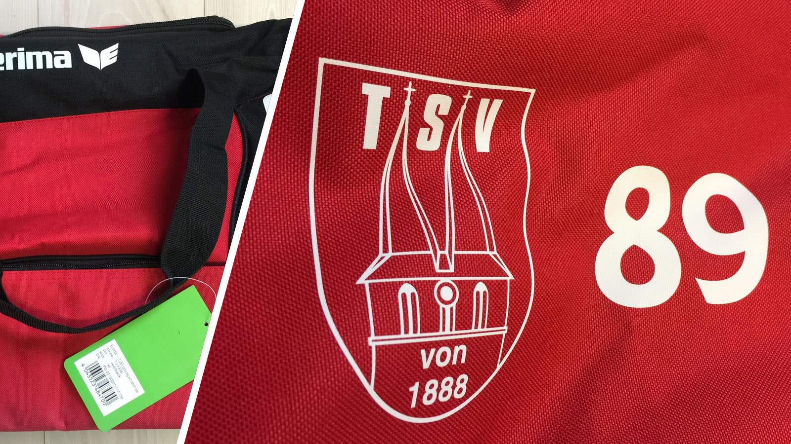 Sporttasche mit Vereinslogo