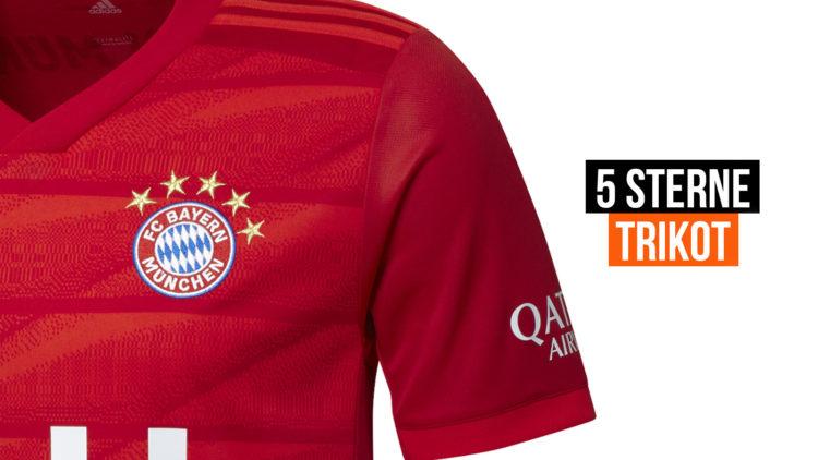 FC Bayern München Trikot mit 5 Sternen