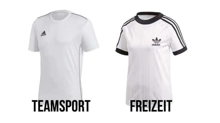 Die Unterschiede zwischen einem Freizeit oder Teamsport T-Shirt