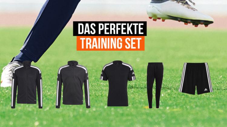 das perfekte Fußball Trainingsbekleidung Set hier am Beispiel von adidas
