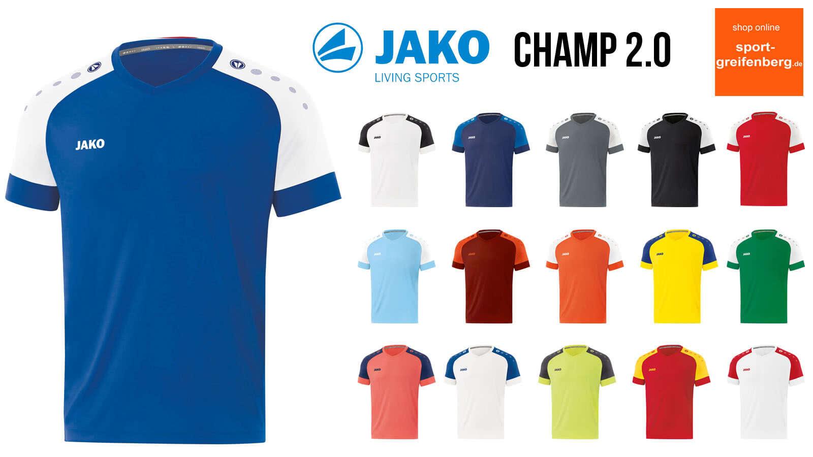 Das Jako Champ 2.0 Trikot für 2020 und 2021 sowie 2022 im Katalog