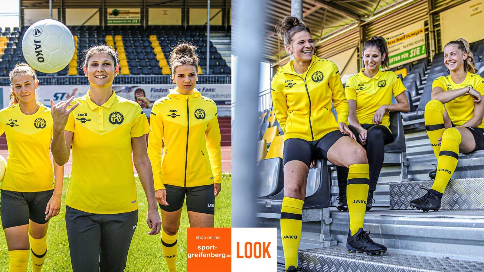 Jako Damen Sport Set gelb