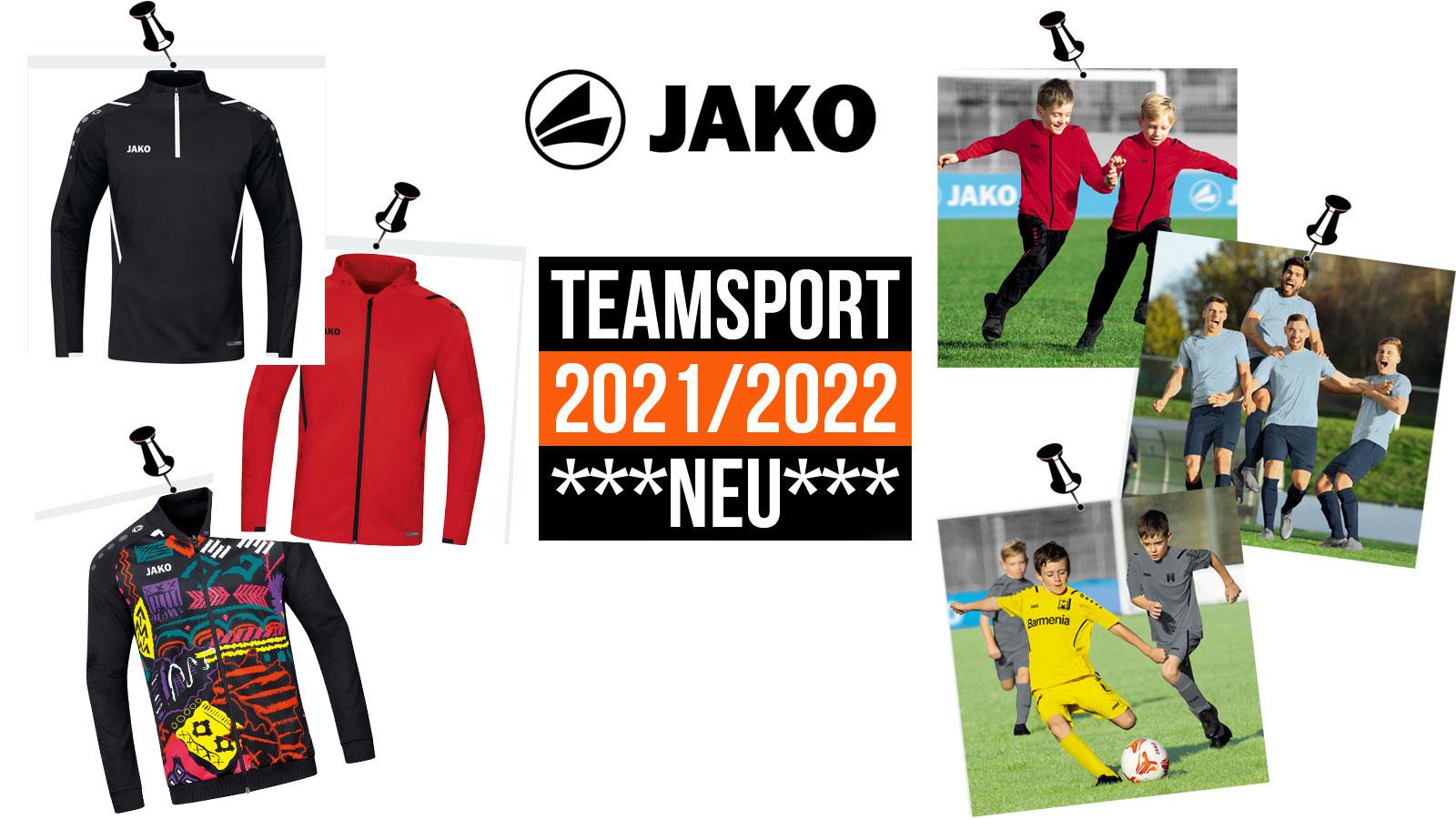 Die Jako Teamsport 2021/2022 Sportbekleidung für den Katalog