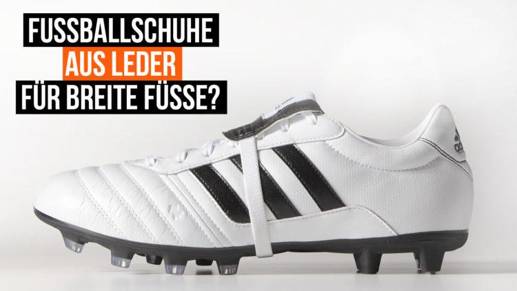 Leder Fußballschuhe für breite Füße