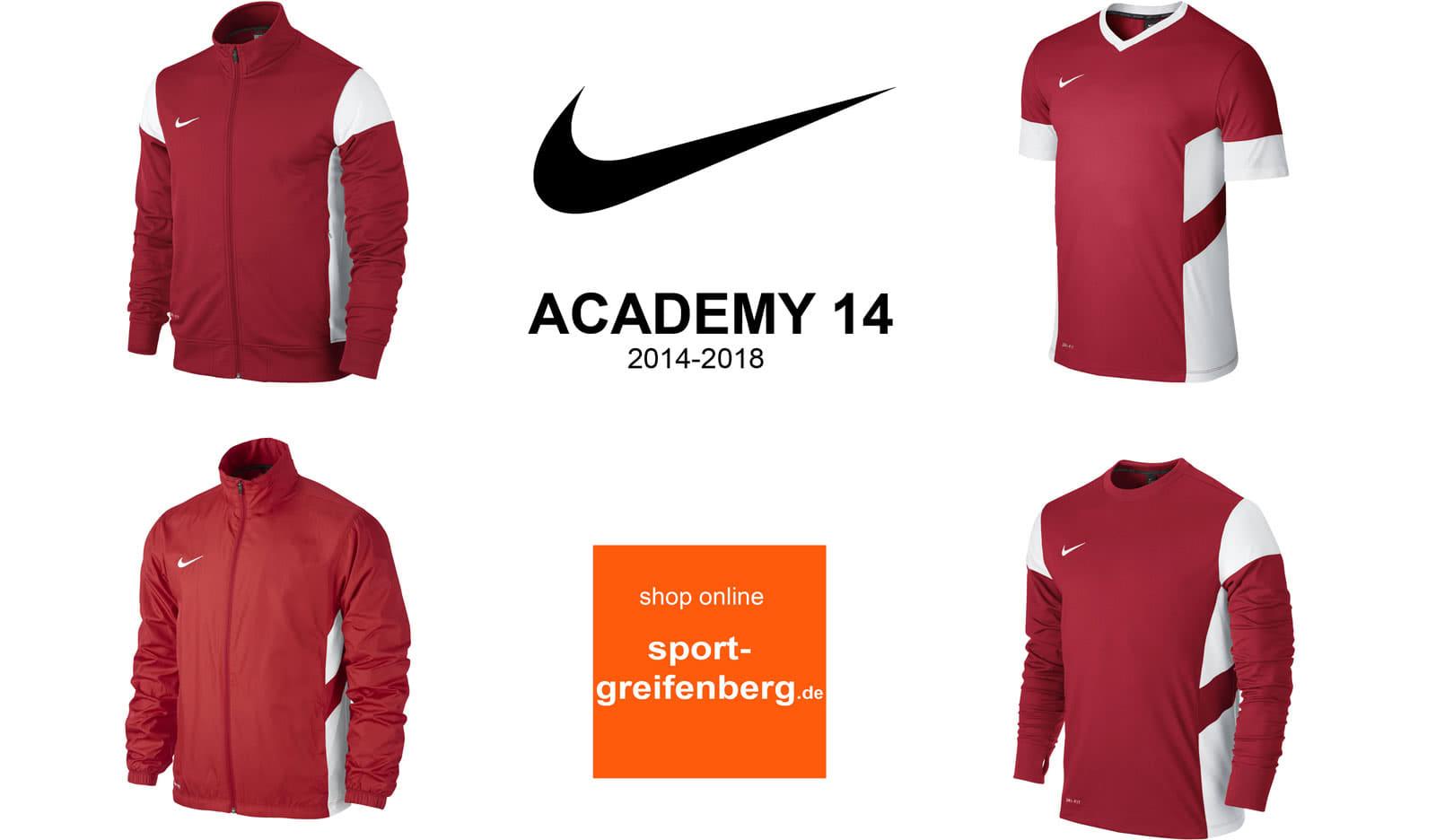 Die Nike Academy 14 Sportbekleidung mit Traningsanzüge sowie Tops und  T-Shirts