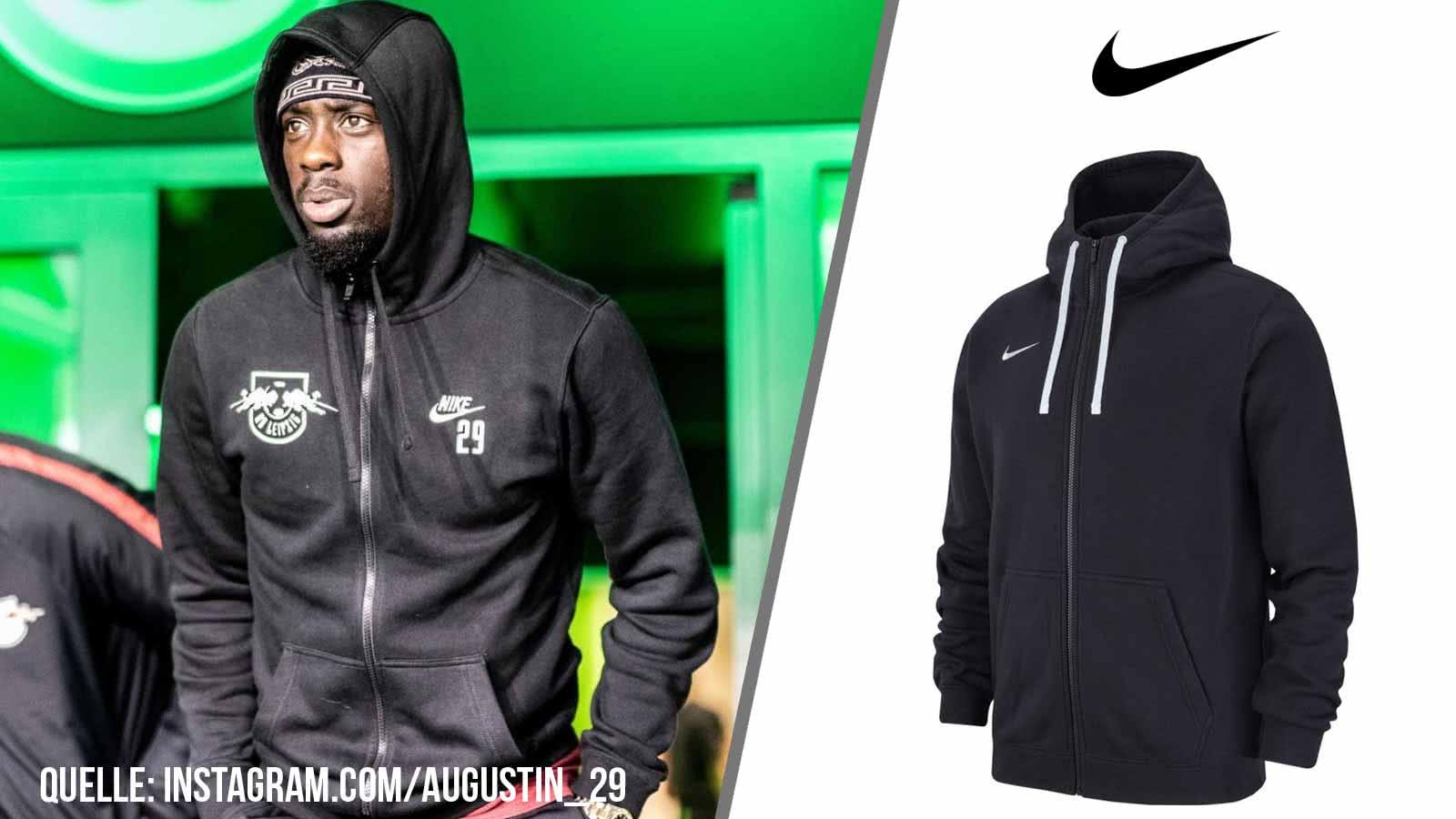 Die Nike Kapuzen Trainingjacke mit Vereinslogo wie die Bundesliga Teams