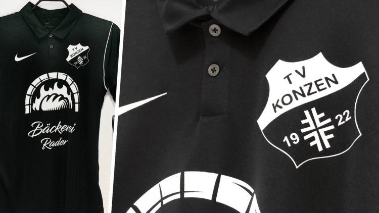 die Nike Polo Shirt mit Aufdruck des TSV Konzen