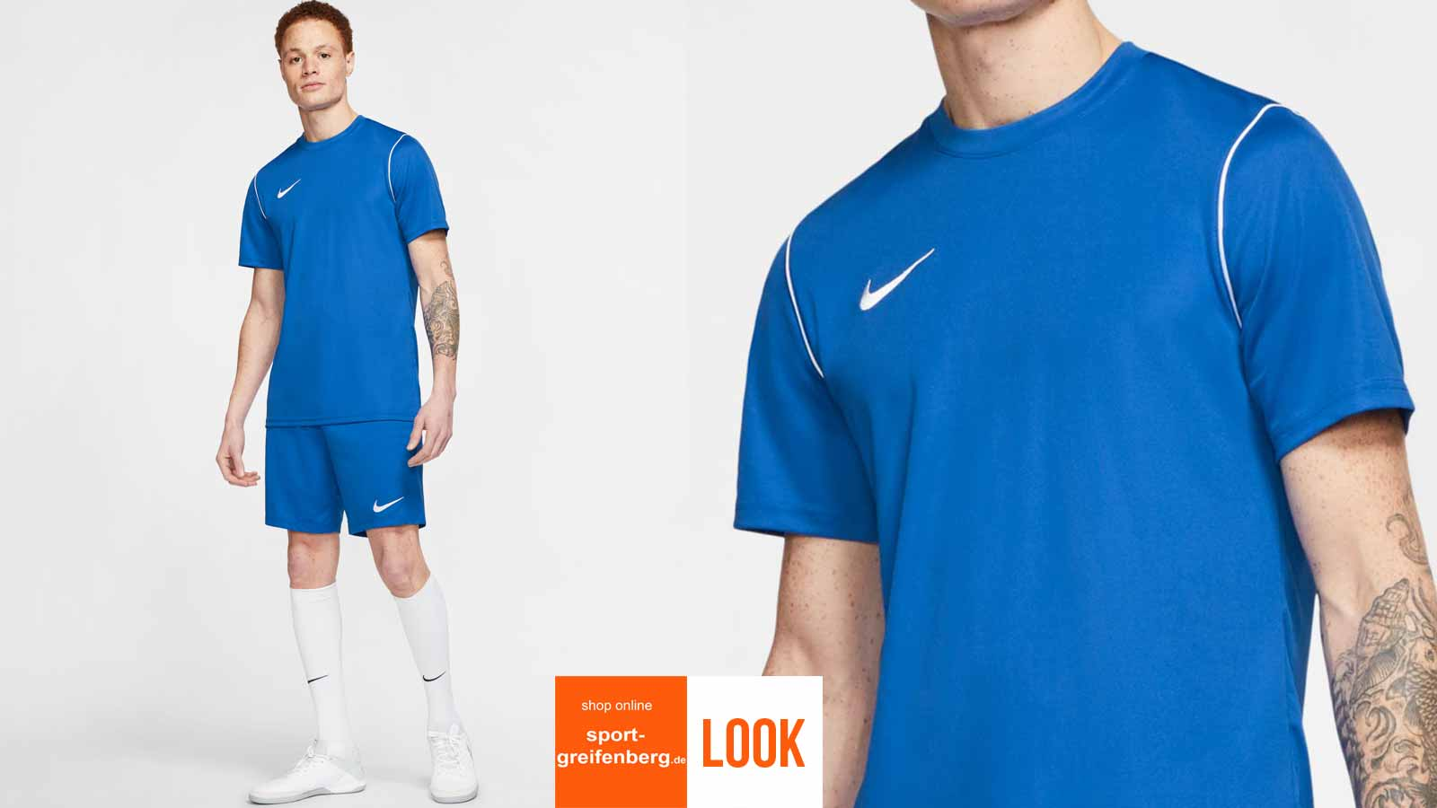 Das Nike Training Outfit Park in blau
