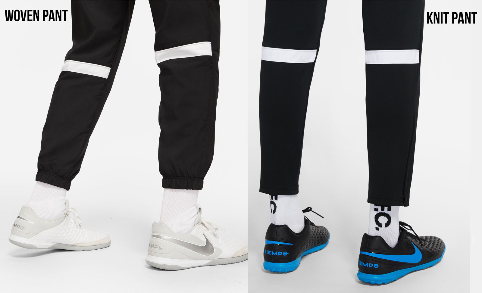 das Beinende der Nike Trainingshosen (Woven Pant und Knit Pant)